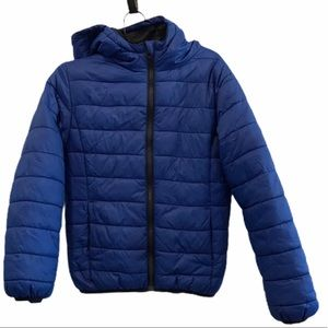 Royal blue George puffer spring fall jacket 7/8